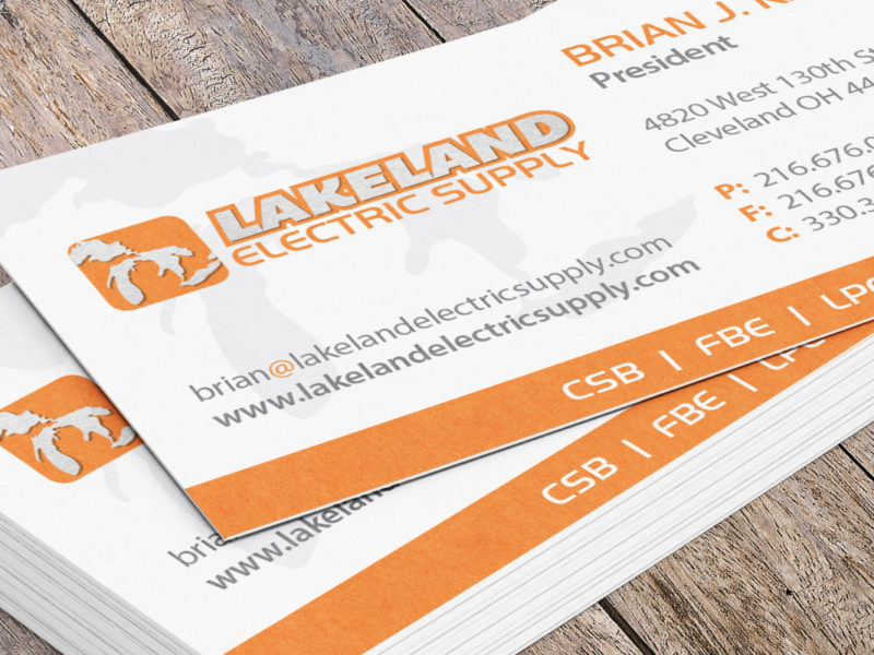 Lakeland Electric Supply Business Card